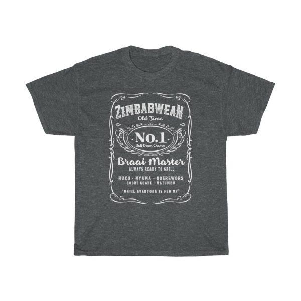 Zimbabwean Braai Master Jack Daniels Parody Tee (S to 5XL)