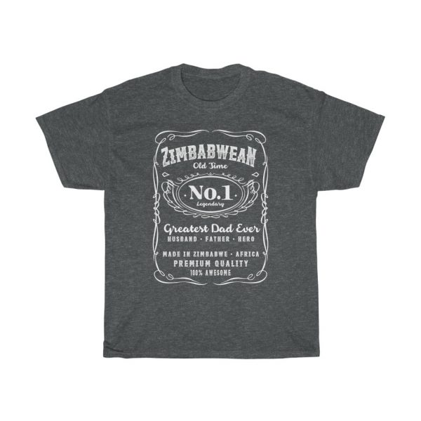 Zimbabwean Number 1 Dad T-Shirt Fathers Day (S to 5XL)