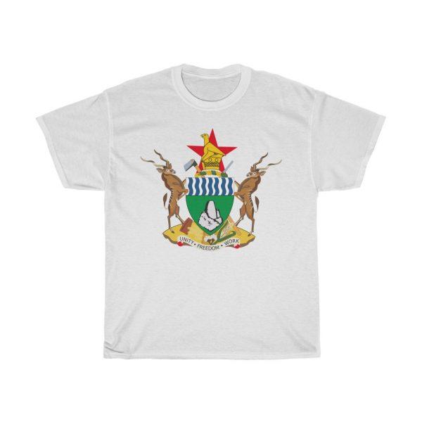 Zimbabwe Coat of Arms T Shirt (S to 5XL)