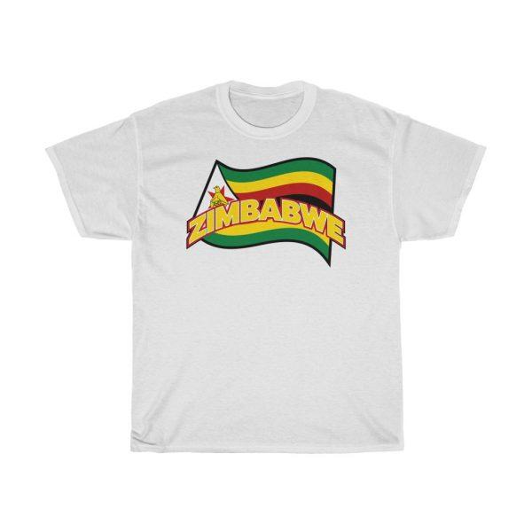 Zimbabwe Flag Wave T Shirt (S to 5XL)