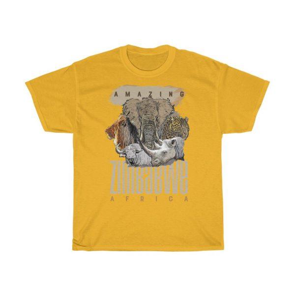Amazing Zimbabwe Big 5 Sketch T Shirt (S to 5XL)