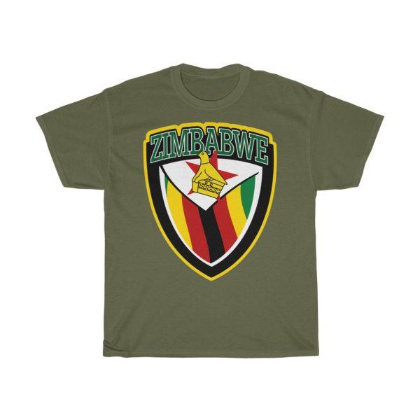 Zimbabwe Patriot Shield T Shirt (S to 5XL)